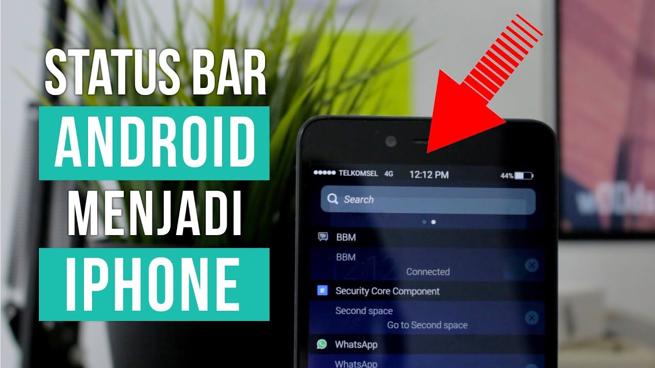 Mengubah Notifikasi Status Bar Android Menjadi Iphone Youtube