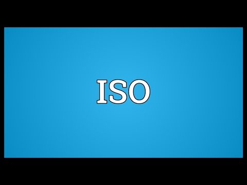 ISO Meaning
