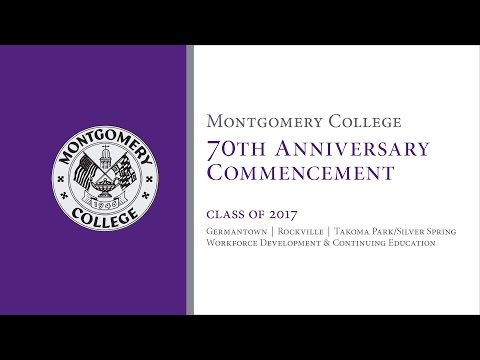 Montgomery College Commencement 2017