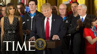 President Trump Delivers Remarks At The Wounded Warrior Project Soldier Ride | TIME