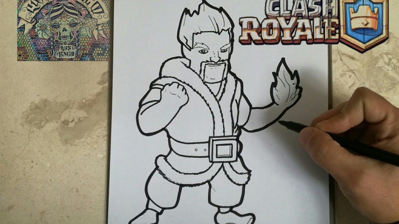 Como Dibujar Al Mago De Hielo Clash Royale How To Draw Ice