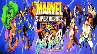 Marvel Super Heroes vs Street Fighter ARCADE - Chun-li/Sakura (1080p/60fps) (REQUEST)