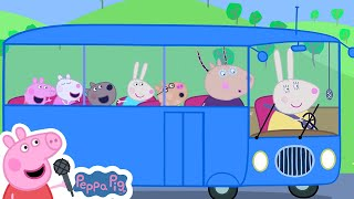 Wheels on the Bus Go Round and Round | Peppa Pig Songs | Nursery Rhymes + Kids Songs