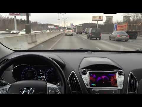 Видео обзор работы цифрового ТВ тюнера DVB T2 на 100  км ч