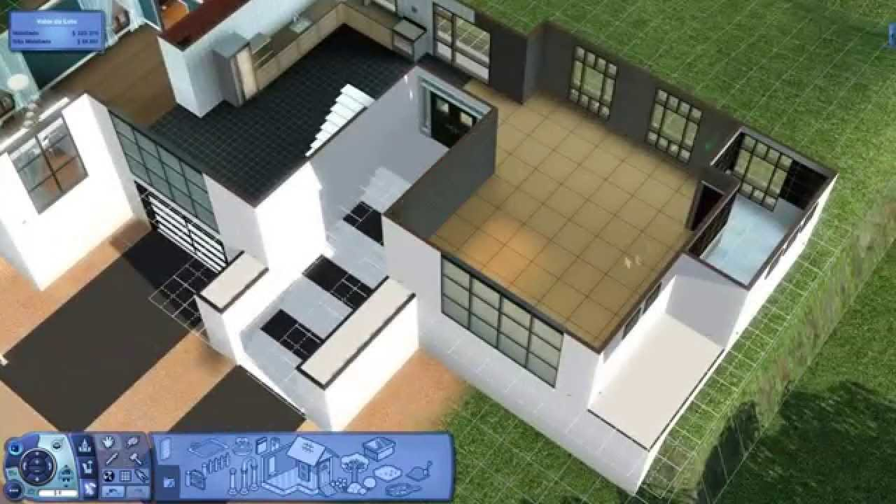 the sims 3 construindo uma casa casa moderna 2 youtube