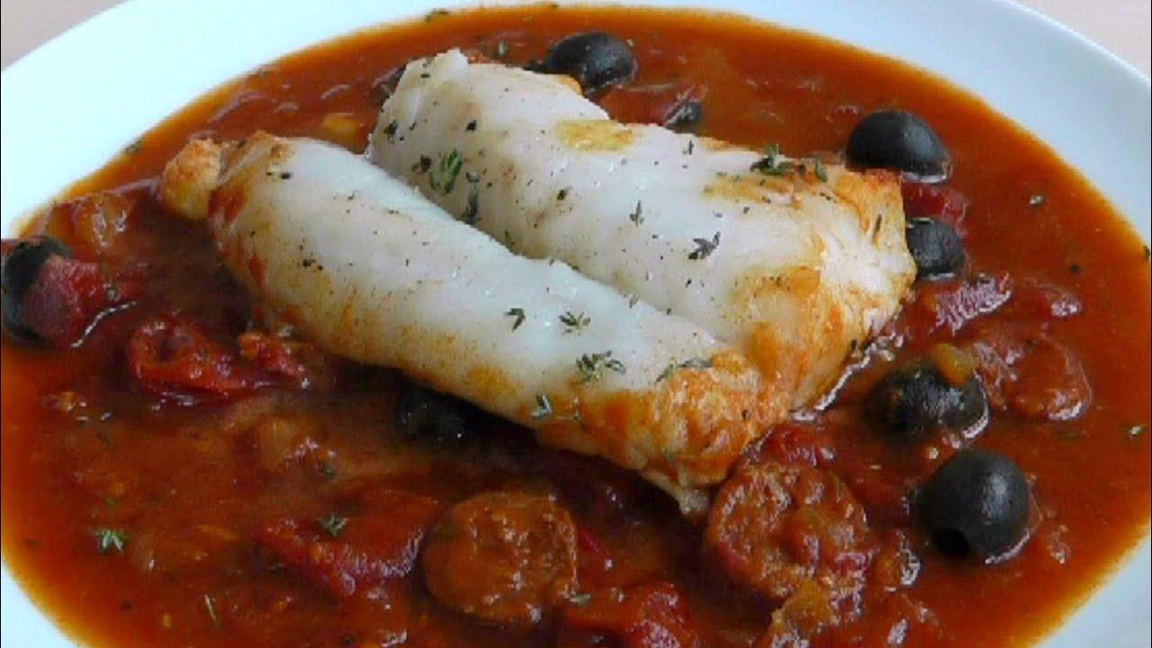 Cod & Chorizo In Homemade Tomato Sauce How To Cook Fish Recipe  Youtube