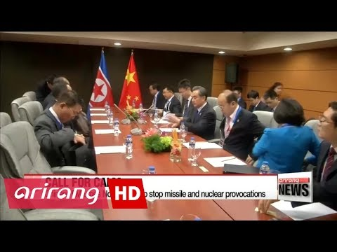 Chinese FM urges North Korea to stop missile and nuclear provocations