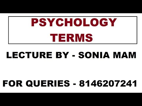 BEST TERMS OF PSYCHOLOGY EXPLAINED