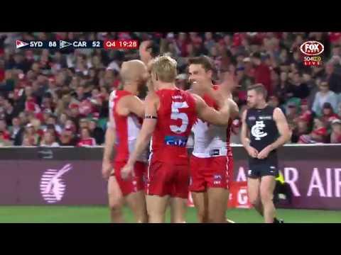 Round 23 AFL - Sydney v Carlton Highlights