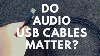 ► Do Audio USB Cables Matter 👀? Audioquest Carbon USB etc  🎶