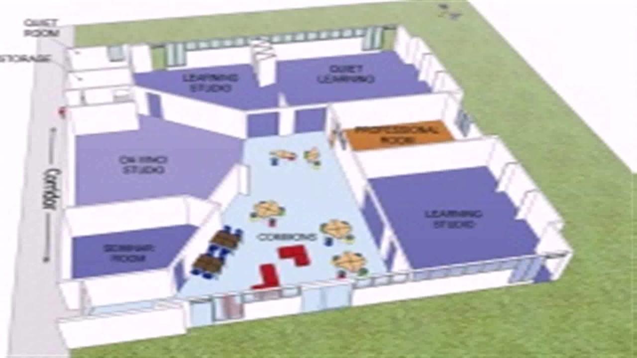 Floor plan of kindergarten room youtube for Plan out your room online free