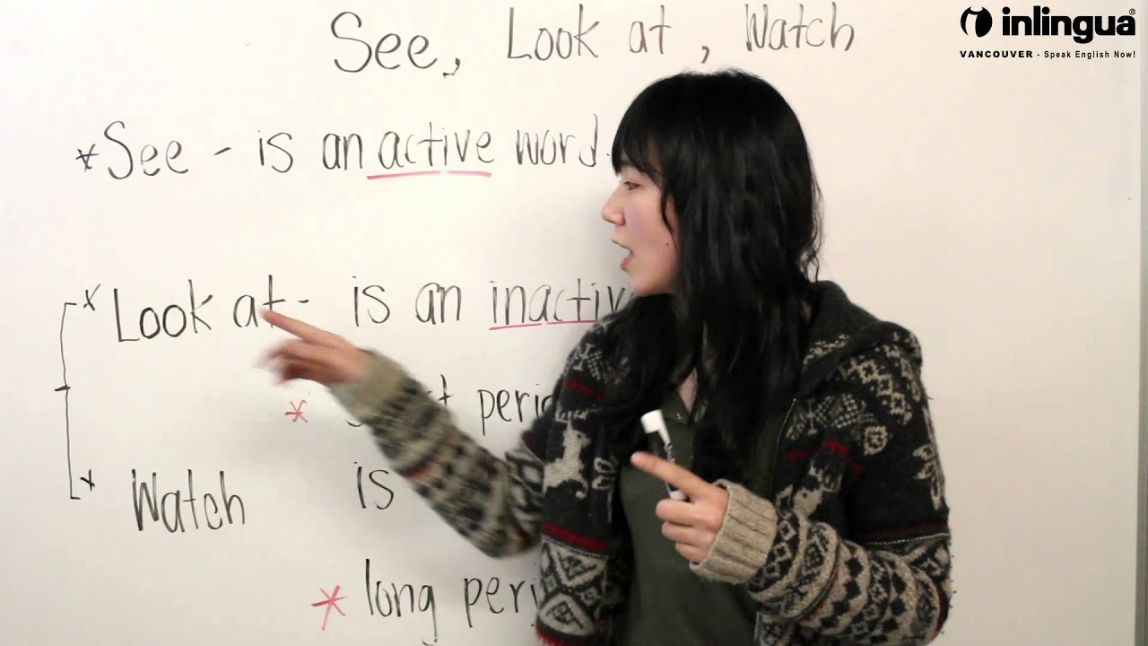 Look, See, and Watch Related Verb ESL Exercise