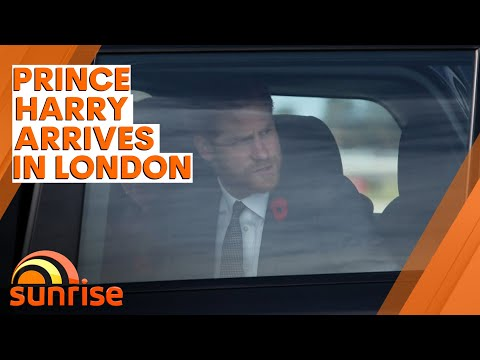 PRINCE HARRY arrives in London after Oprah interview controversy | 7NEWS - Sunrise
