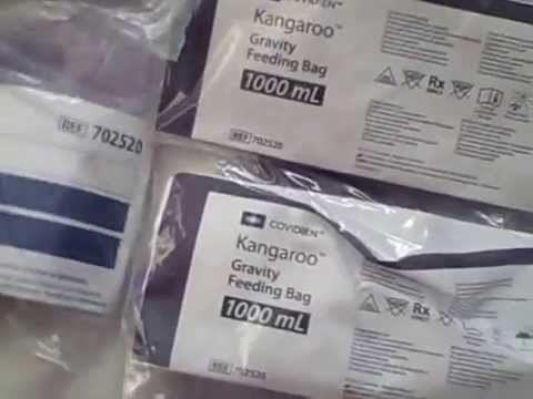 Lot of 12 Kangaroo Gravity Feeding Set 1000 ML 702520 Covidien and Tyco