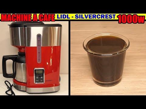 Machine à Café Lidl Silvercrest 1000w Filtre Coffee Machine