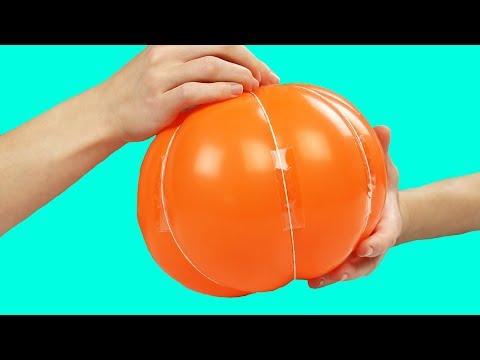 Как сделать тыкву папье маше своими руками