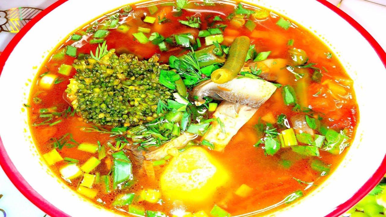 Овощной постный суп.НА КУХНЕ У ЦЫГАНОЧКИ.#овощнойсуп#