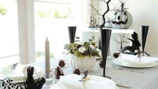 簡単ハロウィンパーティのテーブルコーディネイト テーブルコーディネート 検索動画 9