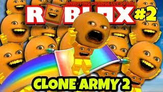 Roblox CLONE ARMY 2 #2 [Annoying Orange Plays]