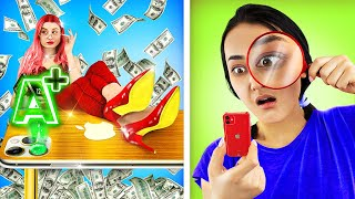 Rich vs Poor School Routine  Funny Situations