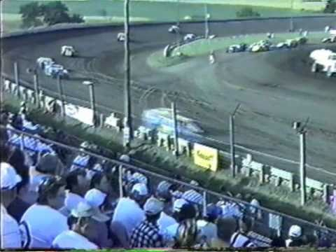 Rob  Lamb Belleville High Banks NCRA Modifieds Hot Laps 2 7-1-01.wmv