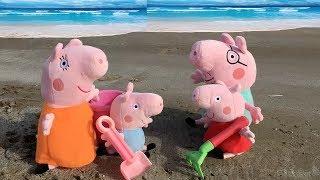 Peppa pig en español: fiesta y juegos en la playa.Nuevos capitulos 2018.Videos de juguetes