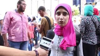بالفيديو .. طلاب الثانوية العامة يتظاهرون أمام نقابة الصحفيين