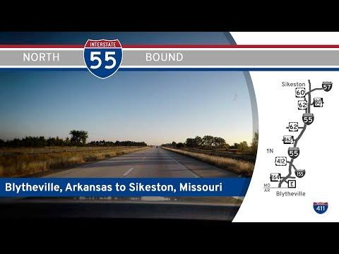 Interstate 55 - Arkansas to Sikeston - Missouri |  Drive America's Highways 🚙