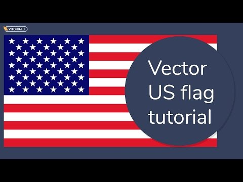 How To Create US Flag In Adobe Illustration.American Flag Vector Tutorial
