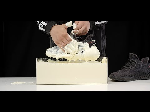 How to clean Yeezy Boost 350 V2 Black static vs  Mayonnaise 4K Crep Protect Cure -EXTREME clean