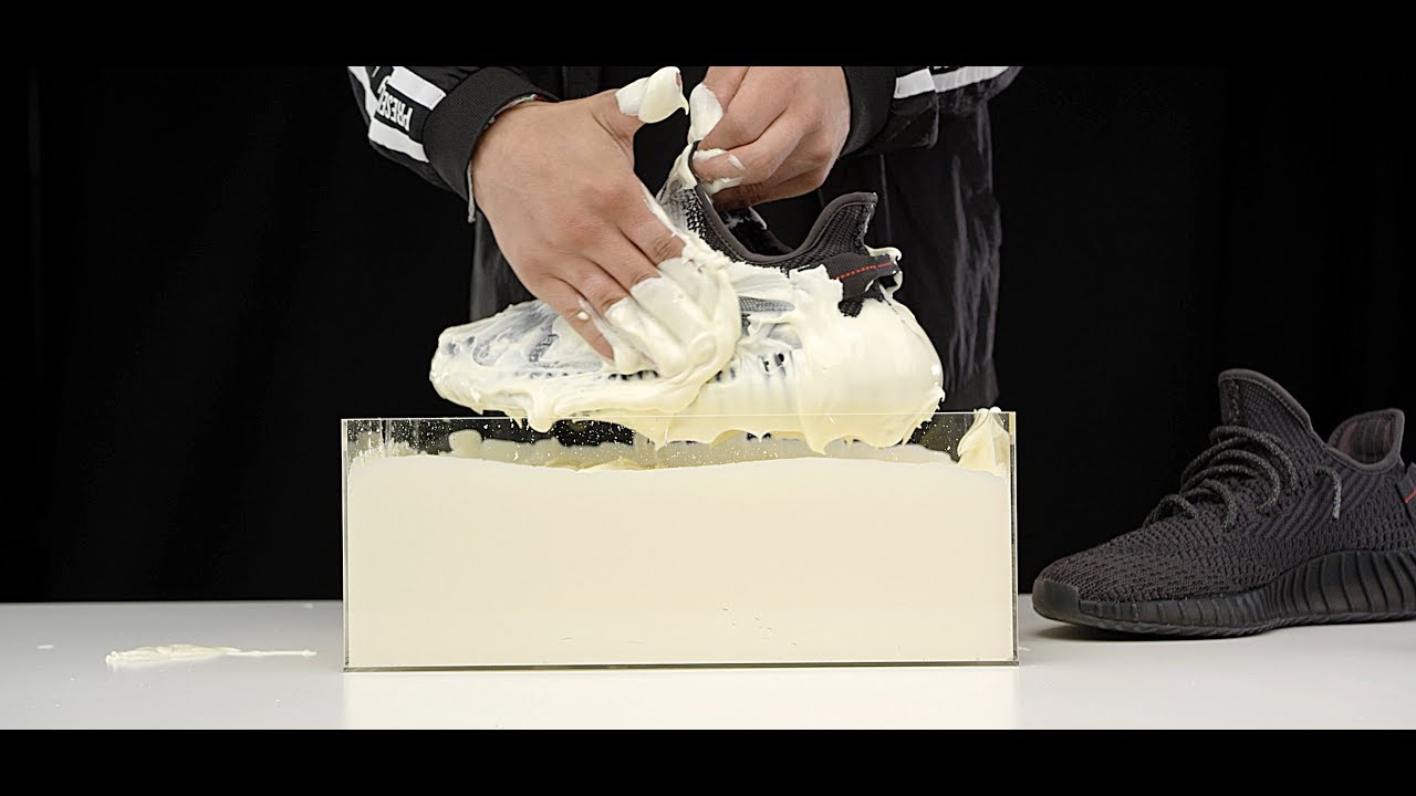 quality design 7e579 0e885 How to clean Yeezy Boost 350 V2 Black static vs Mayonnaise 4K Crep Protect  Cure -EXTREME clean