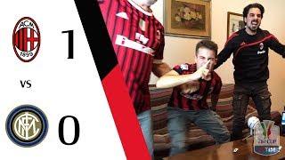 INTERISTI MUTI!!!!!!!!! - MILAN 1-0 INTER | LIVE REACTION GOL COPPA ITALIA