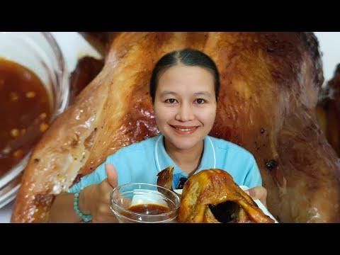 ไก่หมุนจิระภา#ไก่หมุนหมักน้ำผึ้ง#ตลาดหทัยมิตร#fapim ฟ้าพิม channel