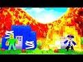 WASSER HAUS vs  FEUER HAUS   Minecraft TSUNAMI