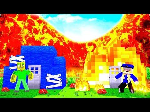 WASSER HAUS vs. FEUER HAUS - Minecraft TSUNAMI