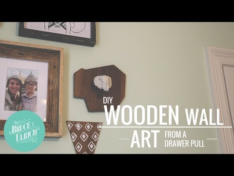 DIY Wooden Wall Art From A Drawer Pull