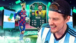 WE PACKED 96 MESSI! 96 SHAPESHIFTER MESSI PLAYER REVIEW! FIFA 20 Ultimate Team