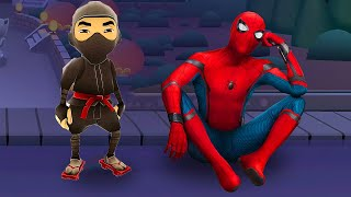 WHO IS THE BEST? SUBWAY SURFERS NINJA vs SPIDER-MAN?