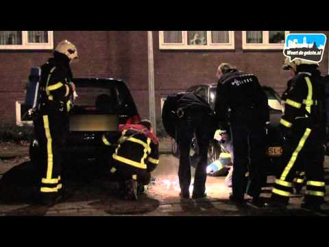 Poging autobrand Louise de Colignystraat