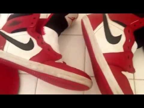 DIY  How to clean restore retro Nike air jordan 1 sneakers chicago tutorial do it yourself