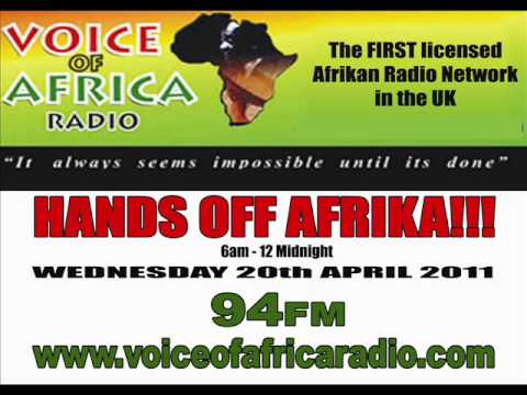 HANDS OFF AFRIKA!!! on VOICE of AFRIKA RADIO....