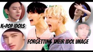 K-Pop idols forgetting their idol image