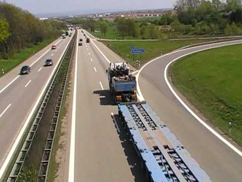 Overlength truck on german freeway
