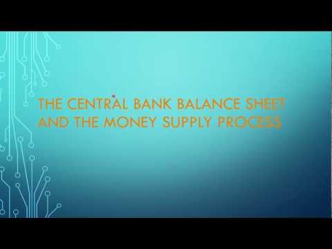 Central Bank Balance Sheet and Money Supply Process
