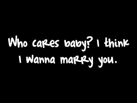 Bruno Mars  Marry You Lyric