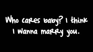 Bruno Mars - Marry You (Lyrics) HD thumbnail