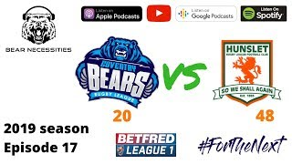 Coventry Bears 20 Hunslet 48 - rugby league podcast