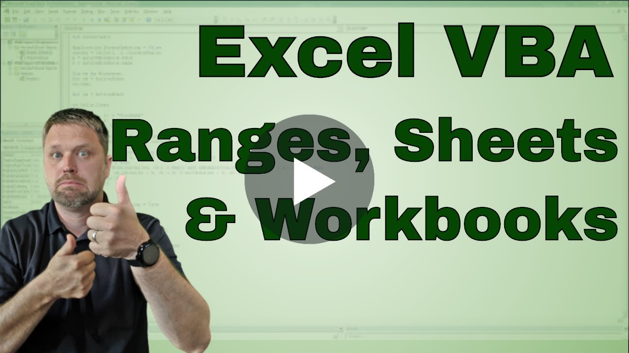 Creating a Excel VBA Macro Range Worksheet or Workbook – Vba Worksheet