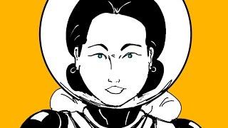 DRAWING WITH LORD KARNAGE #11: Ethel Cyborg Ninja cover design progress