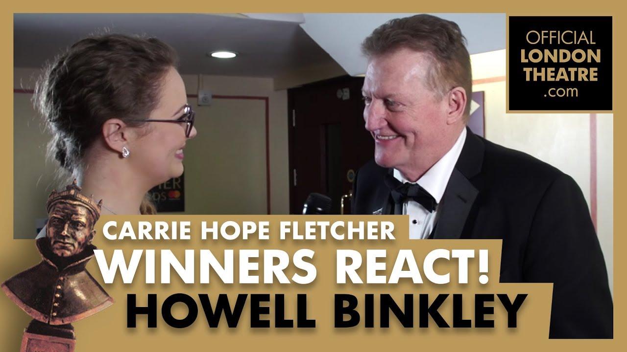 Winners Reactions - Olivier Awards 2018 -  Carrie Hope Fletcher interviews Howell Binkley